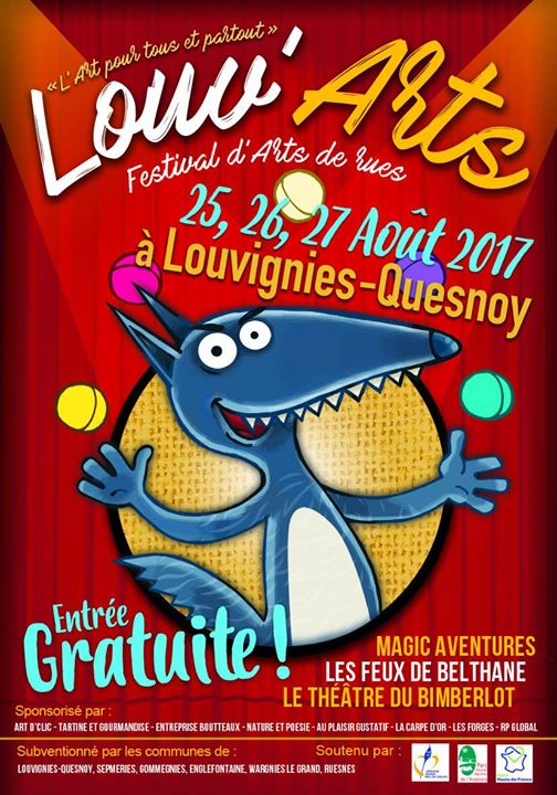 L'affiche Louv'Arts de Louvignies -Quesnoy